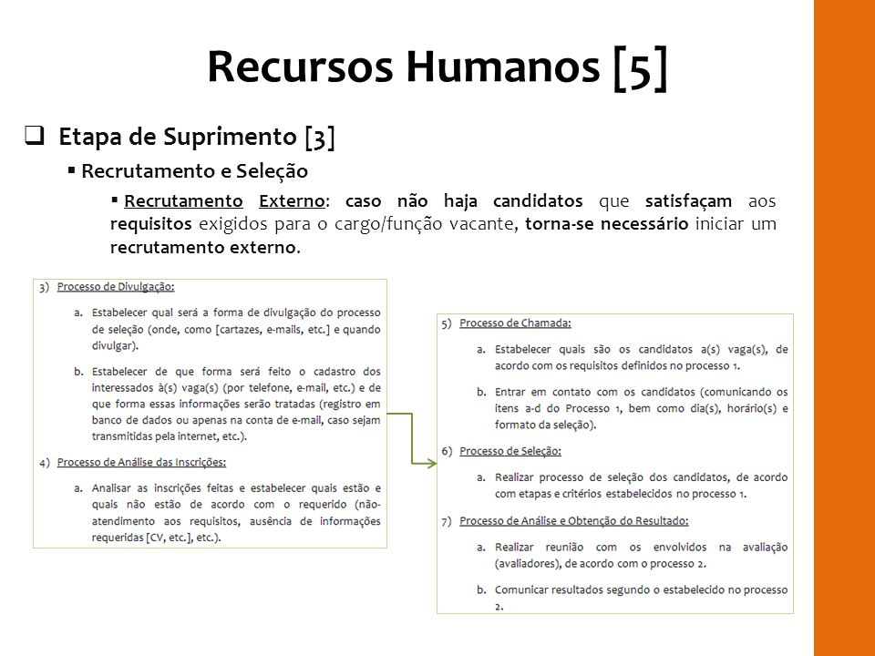 Recursos Humanos [5] RILAY Etapa de Suprimento [3]